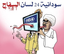 Privately-owned Sudania 24 TV has been depicted as being a government mouthpiece