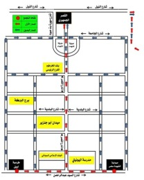Example of the maps of protest routes published several hours in adavance by the Sudanese Professionals Associations